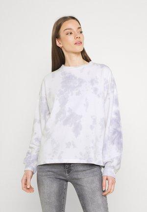 ONLMAYA TIE DYE O-NECK - Sweatshirt - purple heather