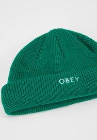 Obey Clothing - ROLLUP BEANIE - Gorro - green lake - 5