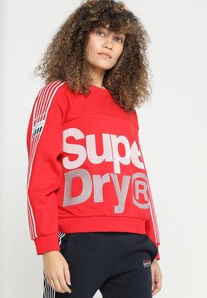 ATHLETICO CROP CREW - Sweatshirt - red