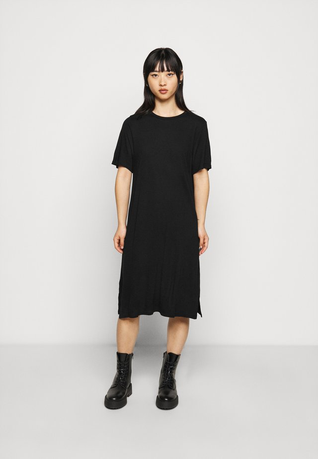 LILJA T SHIRT DRESS - Jerseykjoler - black