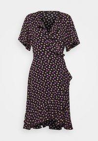 Colourful Rebel - TELSI HEARTS WRAP DRESS - Day dress - black - 3