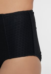 Seafolly - LALUNA HIGH WAISTED PANT - Spodní díl bikin - black - 4