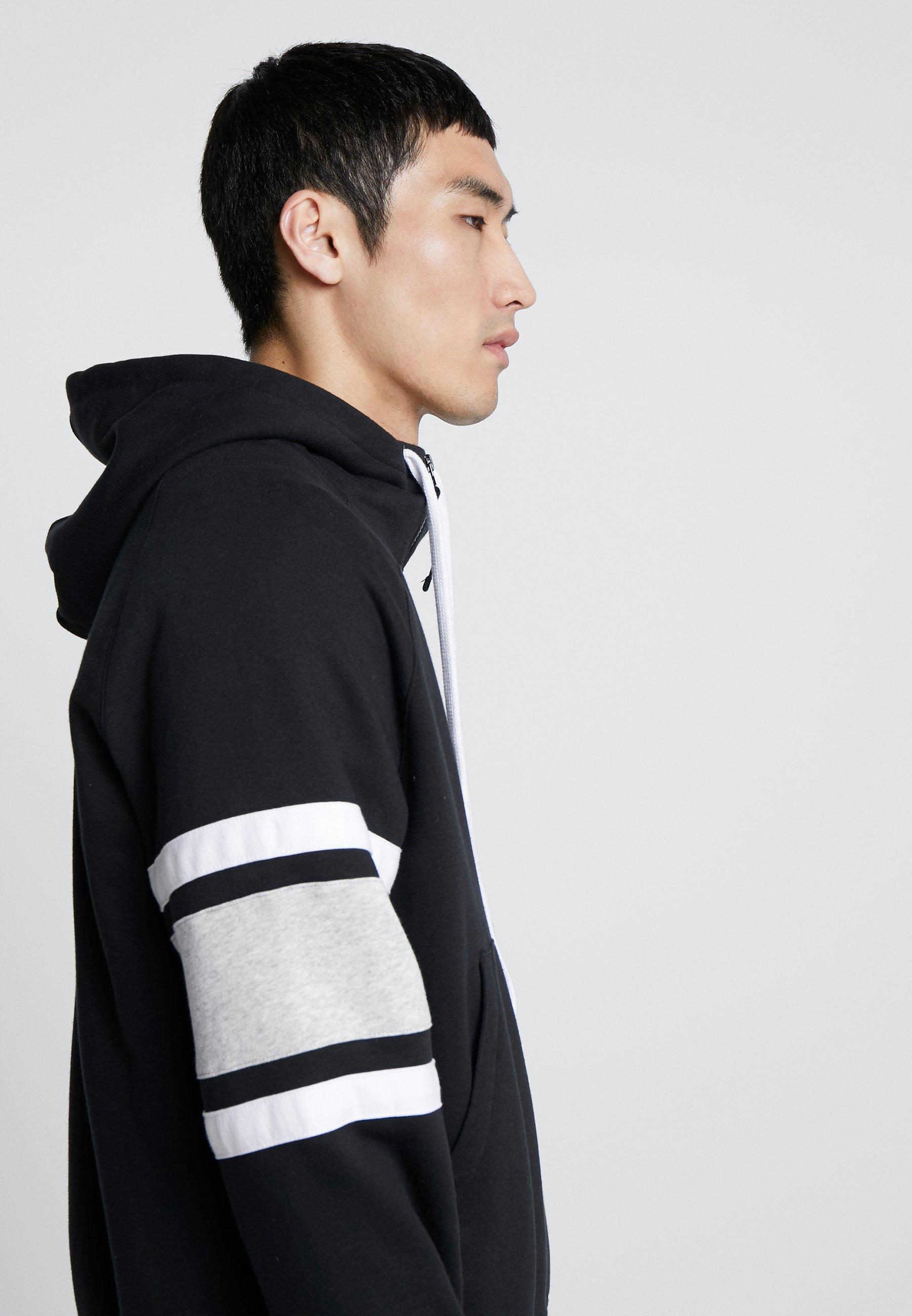 Nike Sportswear HOODIE - Hettejakke - black/white/grey heather