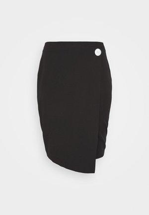 BUTTON DOWN PENCIL SKIRT - Pouzdrová sukně - black