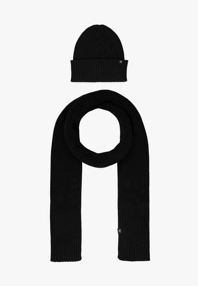 HAT AND SCARF SET - Scarf - black