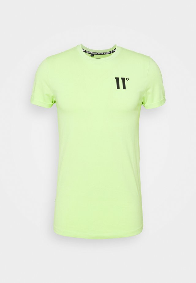 MUSCLE FIT - T-shirt con stampa - neon lime