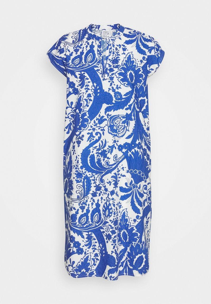 Emily van den Bergh - Kjole - white/blue