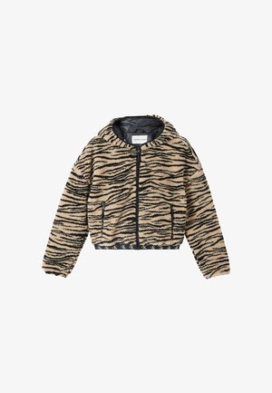 Winter jacket - zebra aop irish cream black
