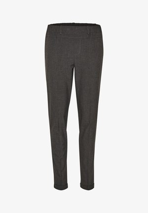 NANCI JILLIAN - Trousers - dark grey melange