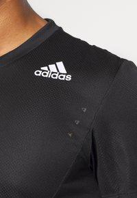 adidas Performance - HEAT.RDY TRAINING SLIM SHORT SLEEVE TEE - T-shirt print - black - 4