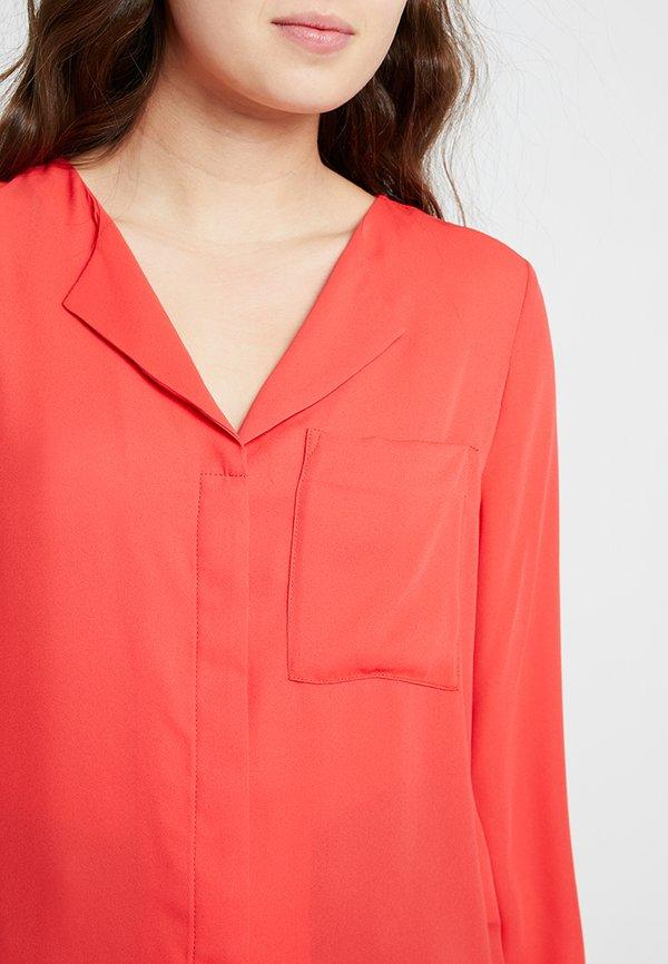 Selected Femme SFDYNELLA - Bluzka - poppy red/czerwony MJZQ