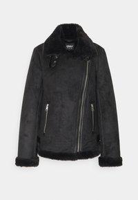 ONLMARIA AVIATOR - Faux leather jacket - black