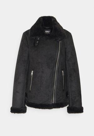 ONLMARIA AVIATOR - Imitatieleren jas - black