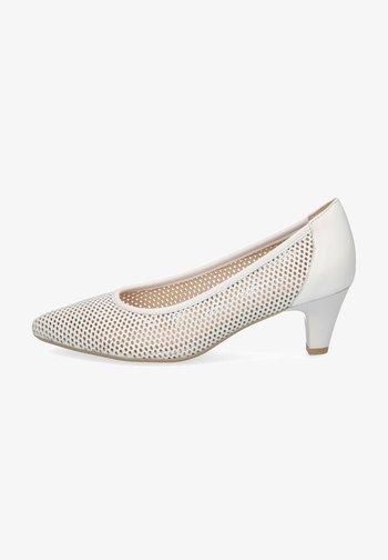 Classic heels - white nappa
