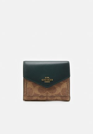 COLORBLOCK SIGNATURE SMALL WALLET - Wallet - tan/forest