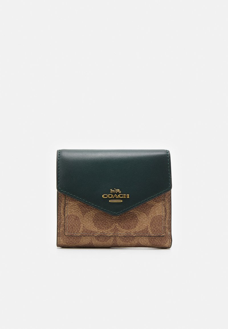 Coach - COLORBLOCK SIGNATURE SMALL WALLET - Wallet - tan/forest