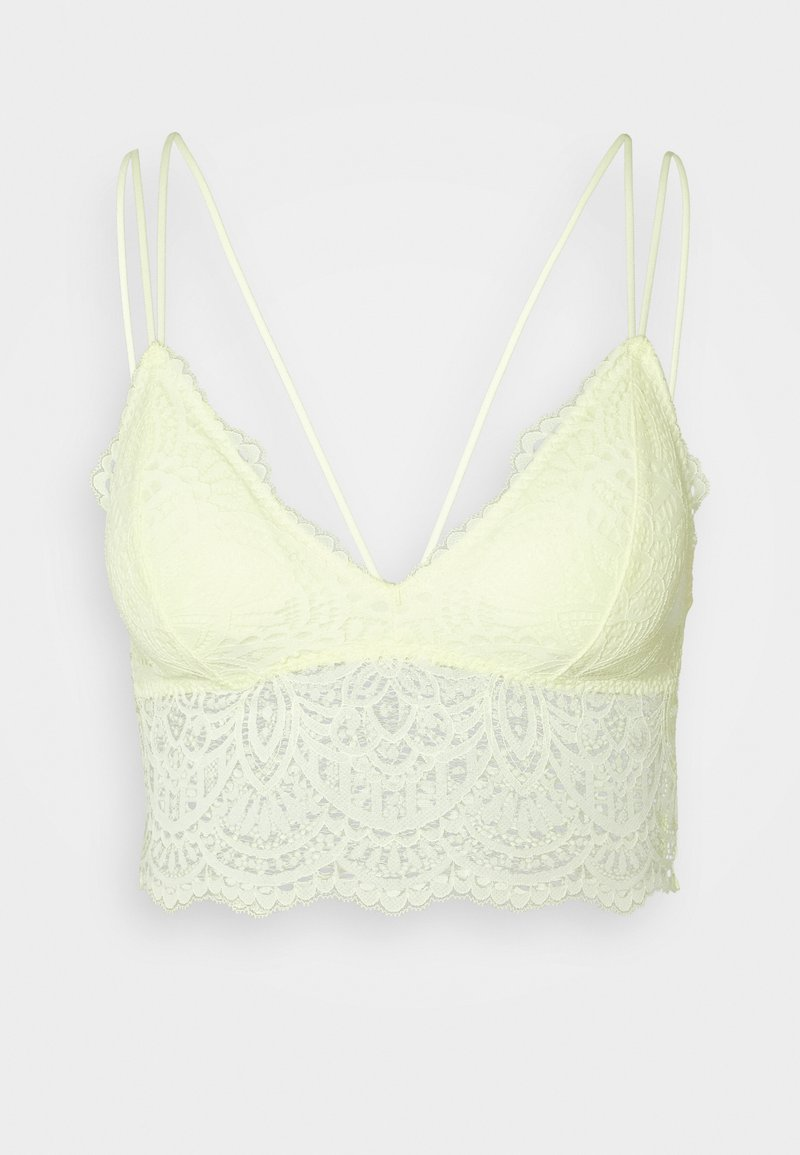 Gilly Hicks - CROCHET LACE - Bustier - wax yellow