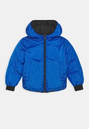 REVERSIBLE PUFFER JACKET - Zimní bunda - black/blue