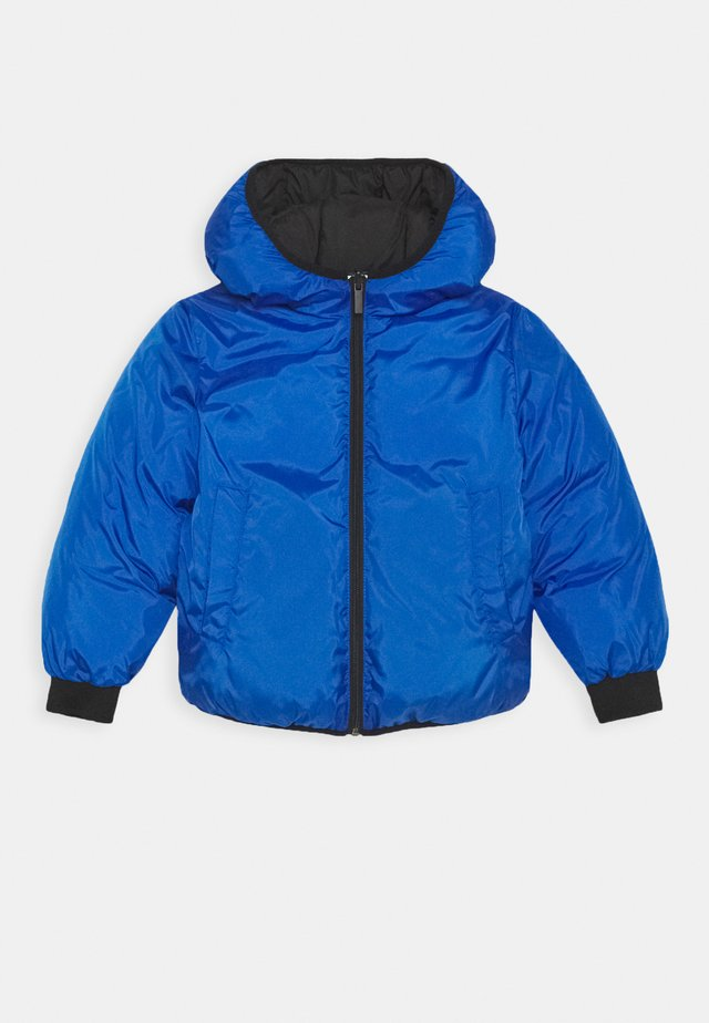 REVERSIBLE PUFFER JACKET - Winterjacke - black/blue
