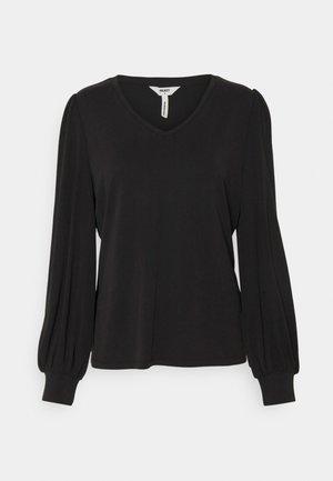 OBJANNIE V NECK - Long sleeved top - black