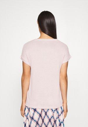 VMBRIANNA O-NECK  - Basic T-shirt - sepia rose/birch melange