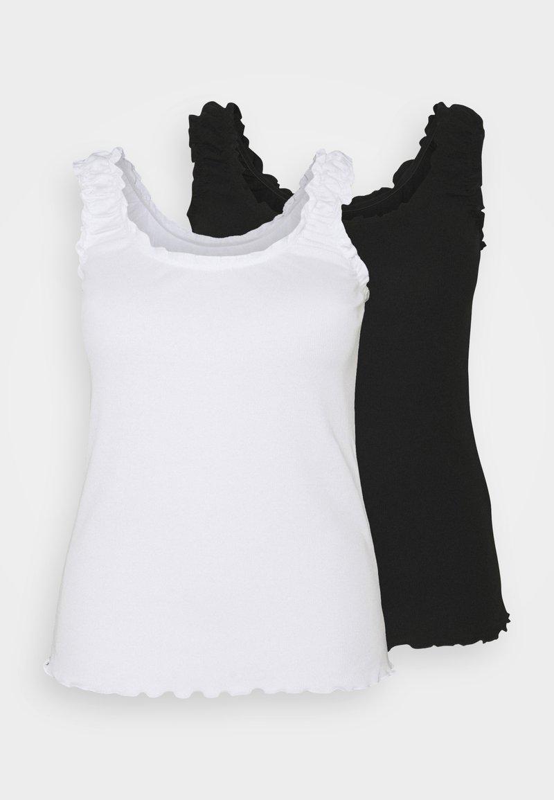 Even&Odd Curvy - 2 PACK - Top - black/white