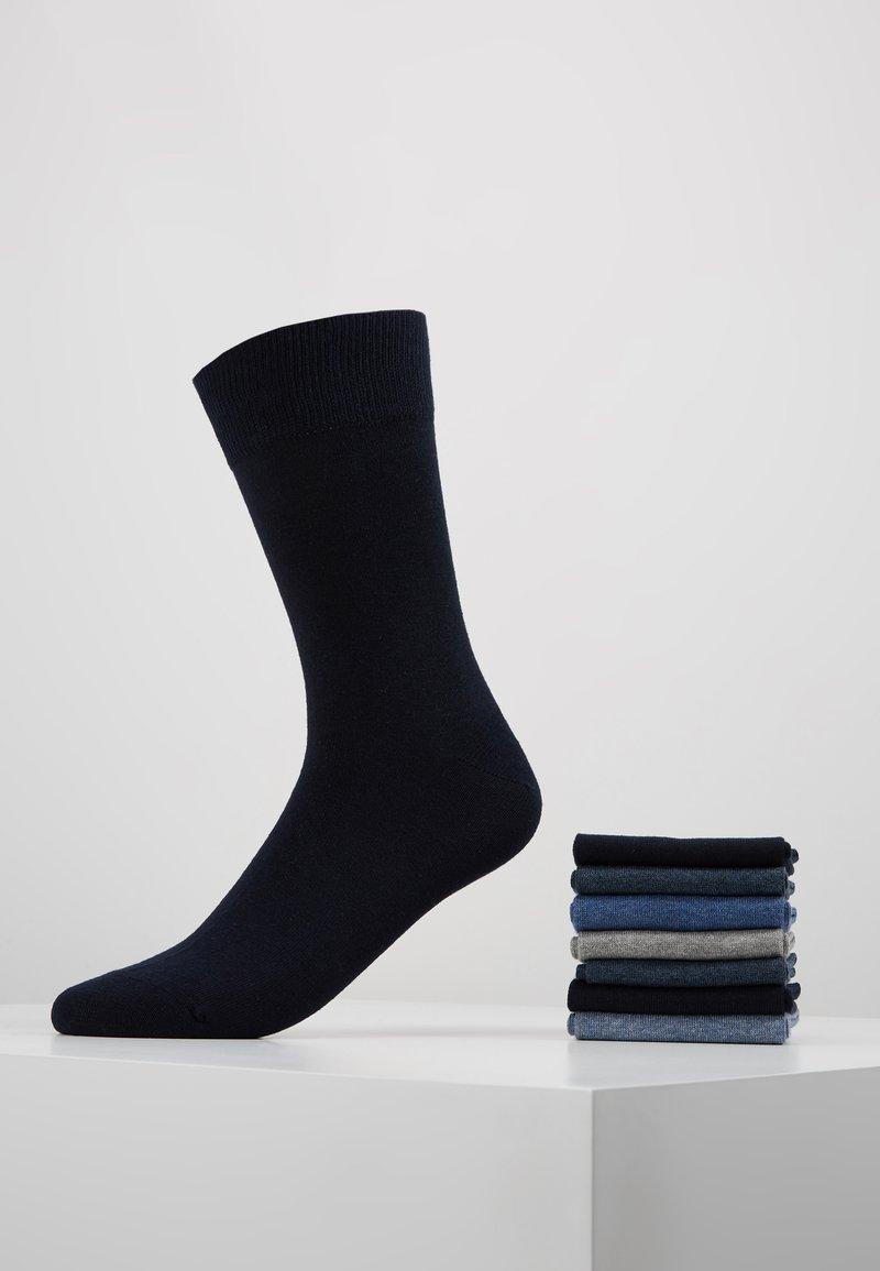 Zalando Essentials - 7 PACK - Strumpor - black/blue/grey
