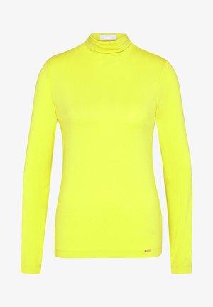 Long sleeved top - yellow,orange,gold