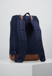 Herschel - RETREAT - Rucksack - peacoat/saddle brown - 2