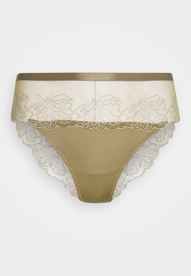EMBROIDED CHEEKY PANTY - Slip - olive green