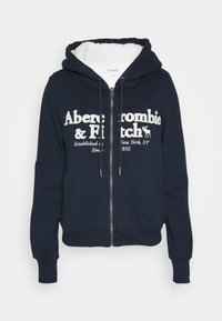 Abercrombie & Fitch - FULL ZIP - Zip-up hoodie - navy - 4