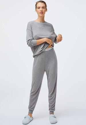 PLAIN SOFT-TOUCH - Pyjama top - grey