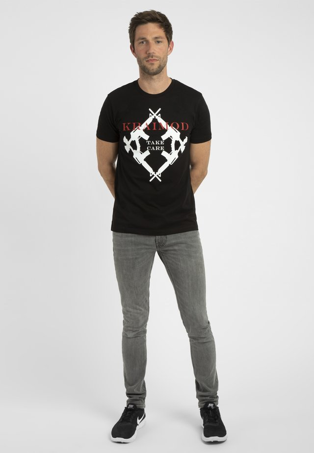 MIT DRUCK - T-shirt con stampa - schwarz