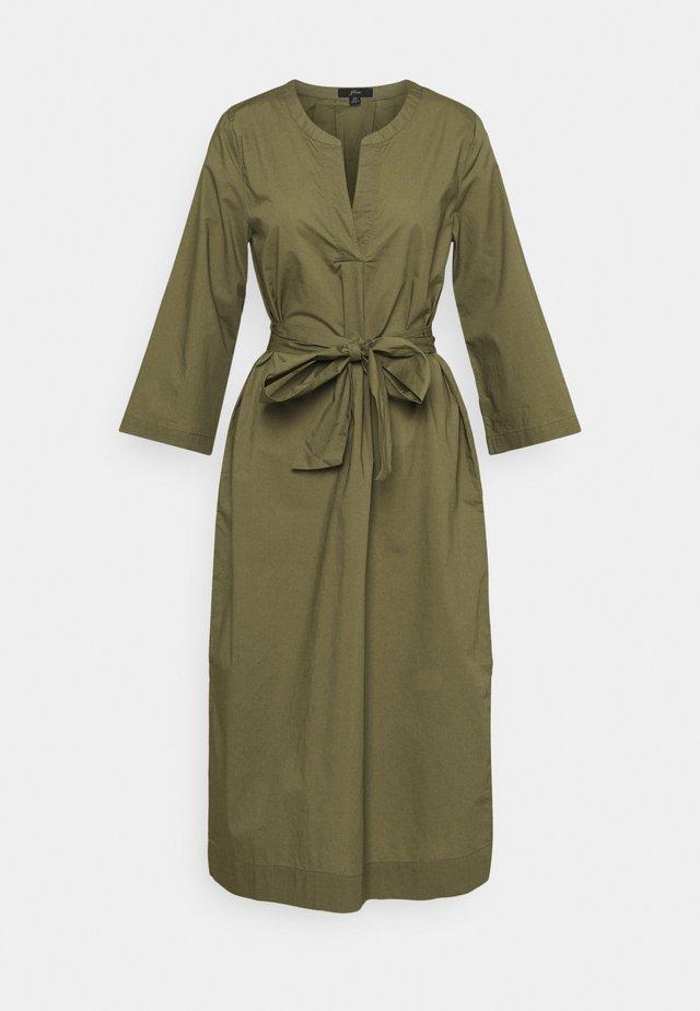 BELTED TUNIC - Korte jurk - frosty olive