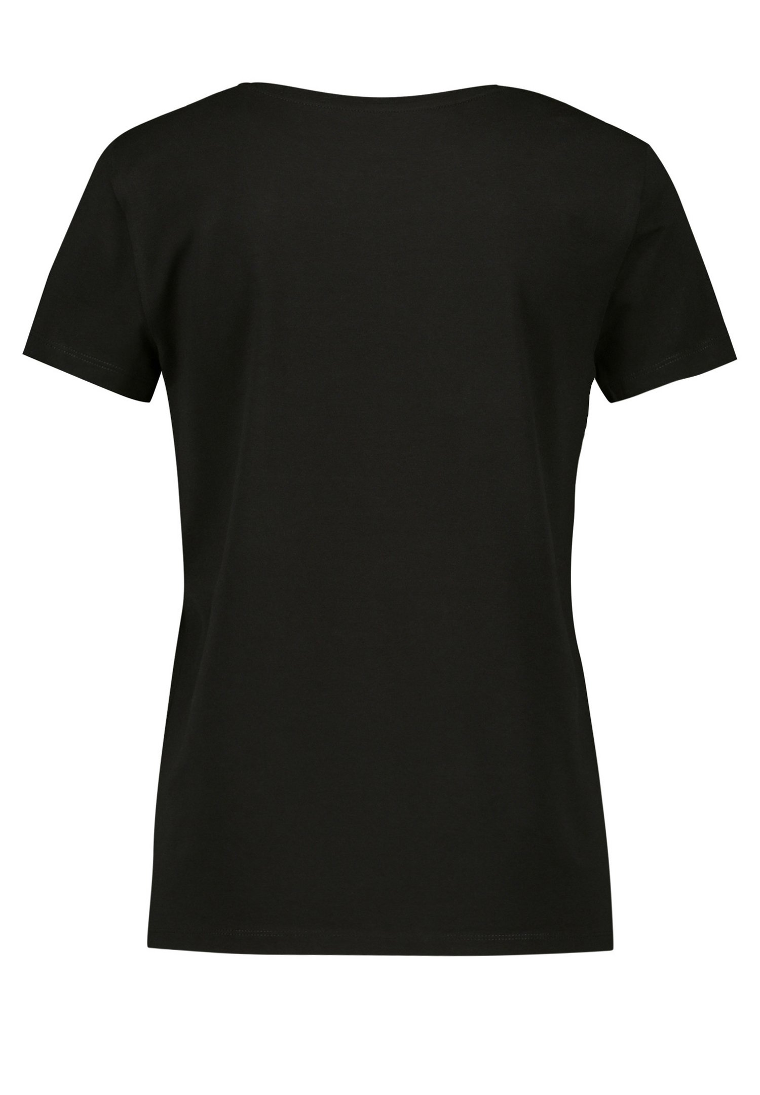 Taifun T-shirt Imprimé - Black Gemustert