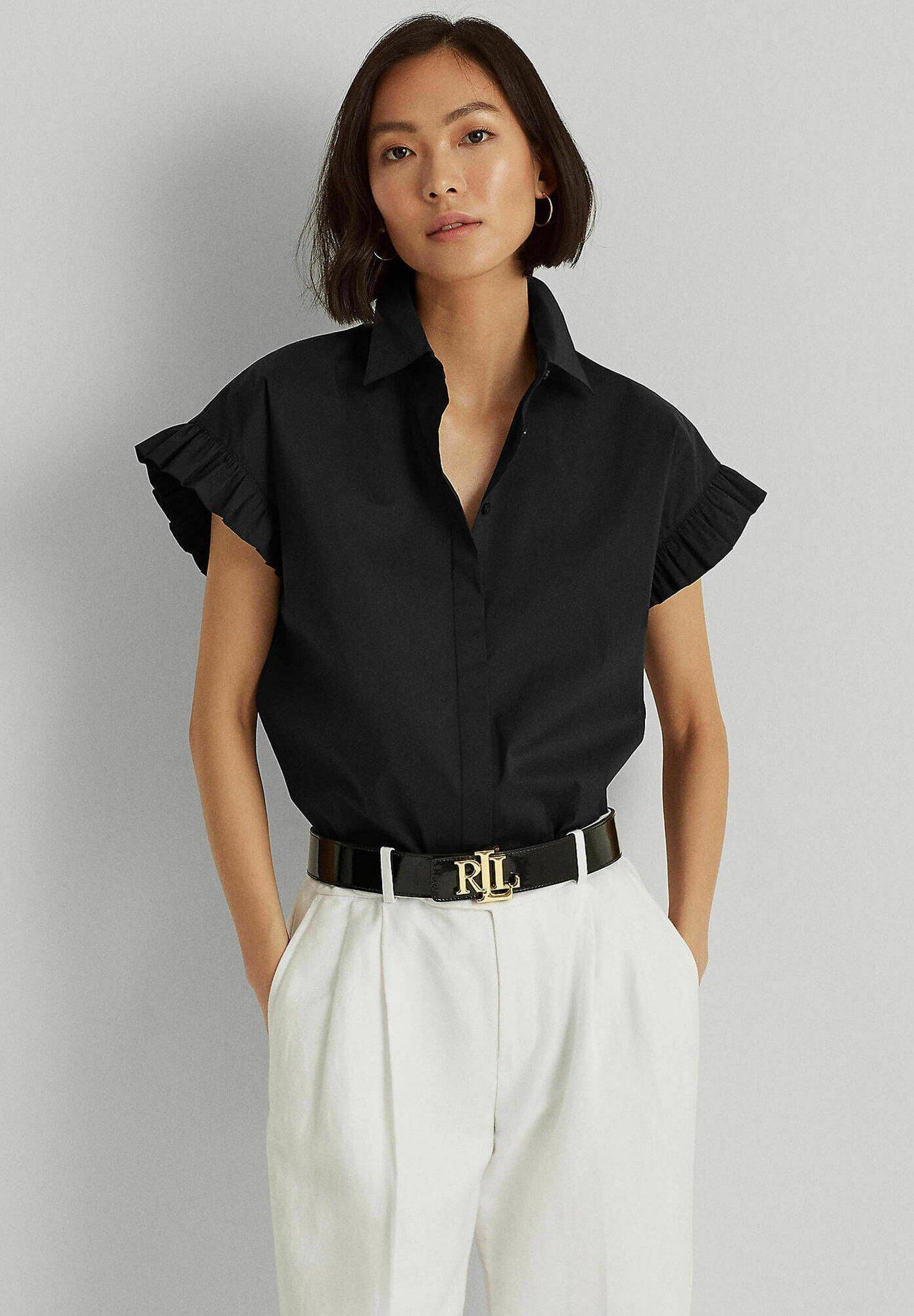 Damen Hemdbluse - schwarz