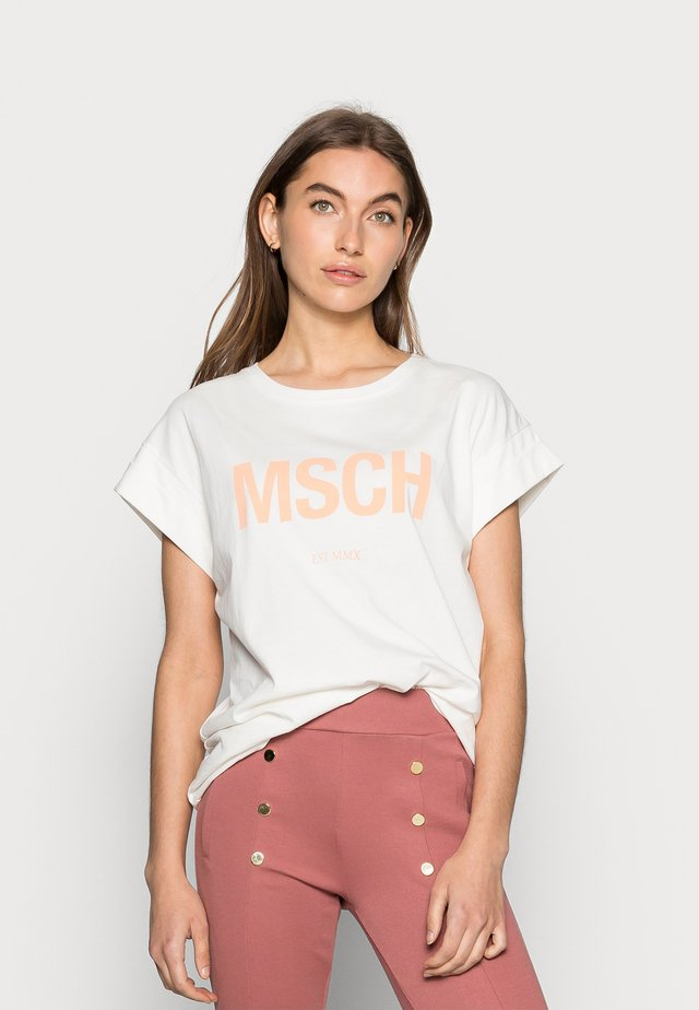 ALVA SEASONAL TEE - T-shirt basic - egret/sands