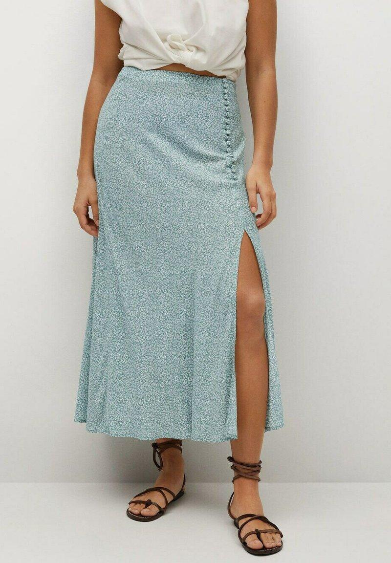 Violeta by Mango - A-line skirt - wassergrün