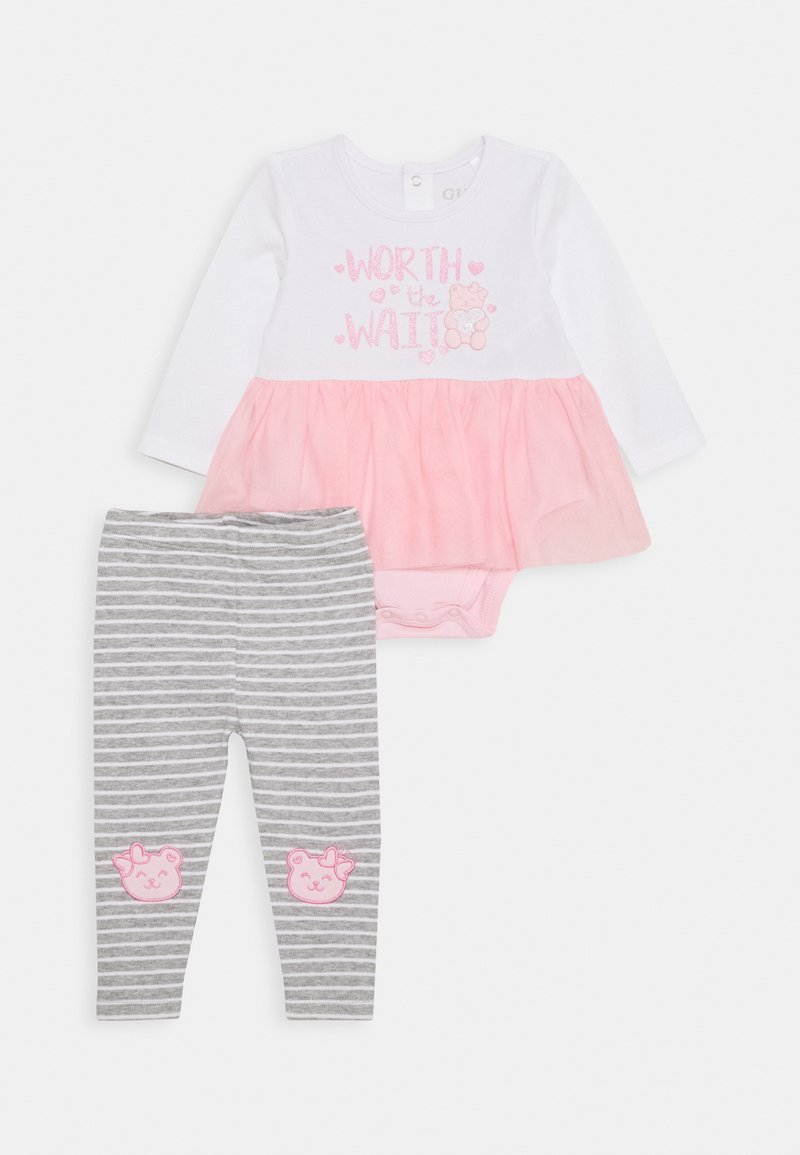 Guess - DRESS BODYSUIT BABY SET - Legging - true white
