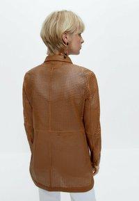 Uterqüe - Leather jacket - brown - 2