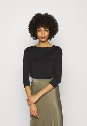 BOAT NECK TEE 3/4 - Long sleeved top - black