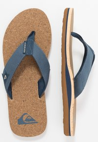 Quiksilver - MOLO ABYSS - T-bar sandals - blue/brown - 1