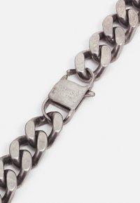 Guess - CURB PLATE UNISEX - Necklace - antique silver-coloured matt - 1