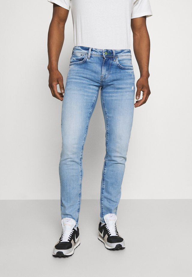 HATCH - Jean slim - light-blue denim