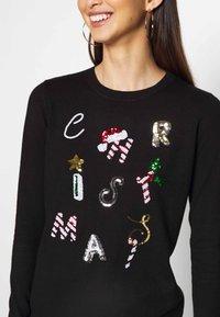 Fashion Union - CHRISTMAS CONVERSATIONAL - Jumper - black - 4