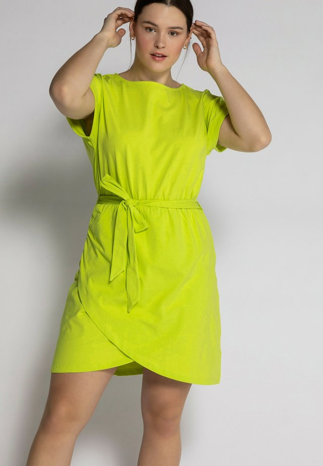 Korte jurk - limette