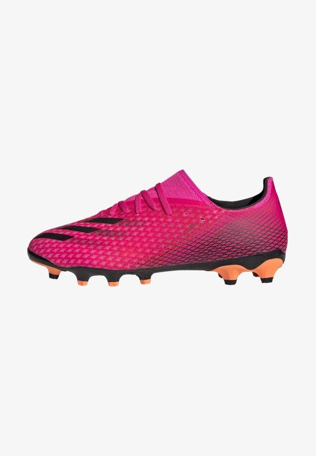 Voetbalschoenen met kunststof noppen - pink