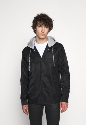 JACKET - Lehká bunda - black/light grey