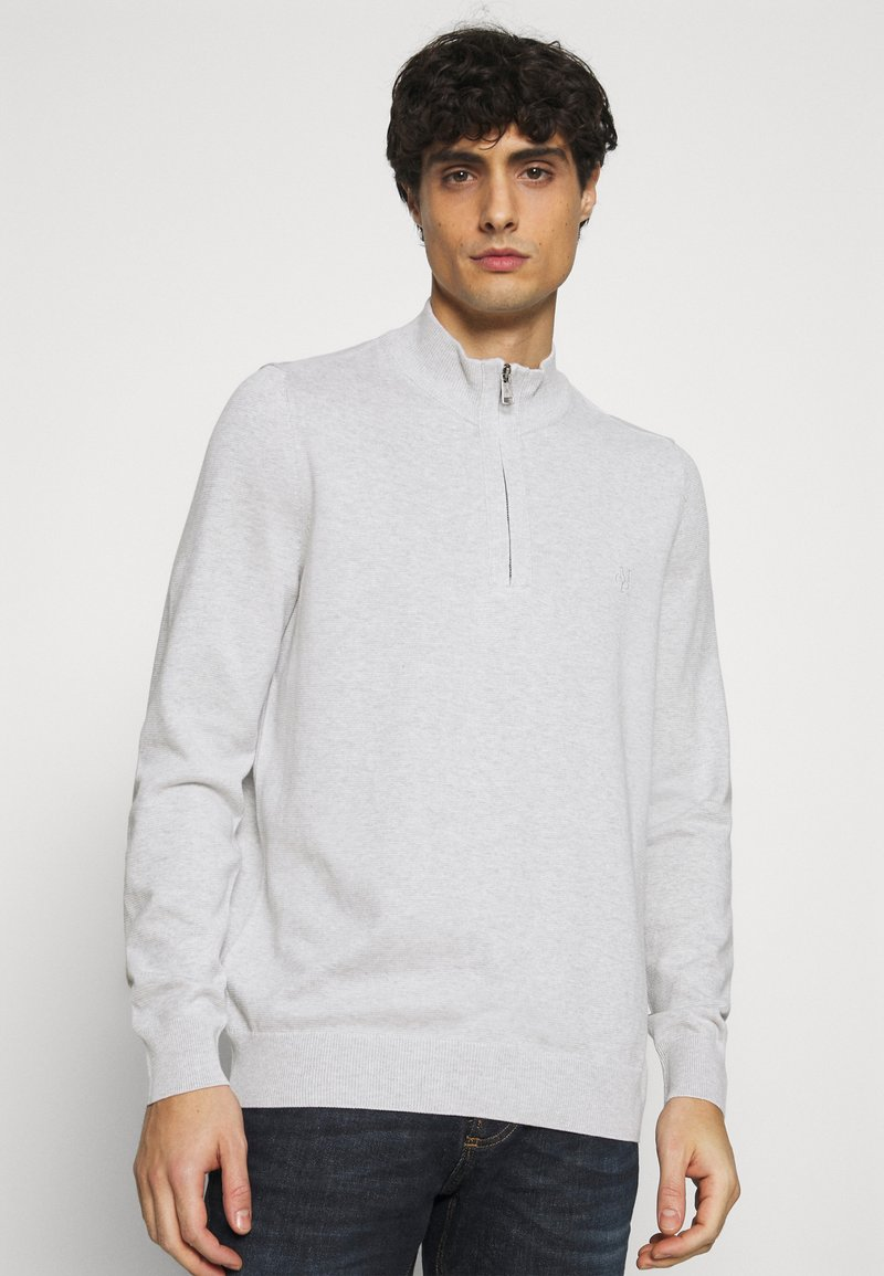 Marc O'Polo - TROYER WITH ZIP - Jumper -  grey