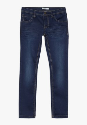NKMROSS DNMTHAYER PANT - Vaqueros slim fit - dark blue denim